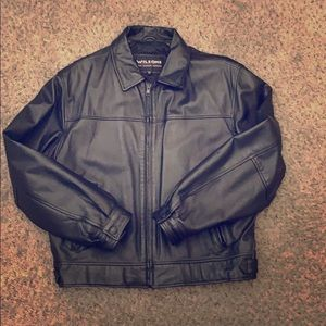 Used men's leather jacket